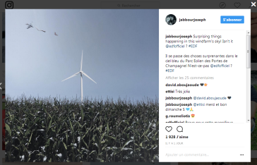Capture instagram eolienne